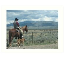 Cowboy Photo Art Print