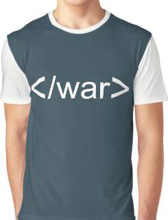 Stop War Graphic T-Shirt