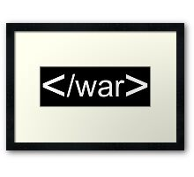 Stop War Framed Print