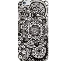 Zentangle Flower Mandalas iPhone Case/Skin