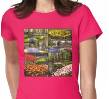 A Dutch Spring Collage - Keukenhof Gardens Womens Fitted T-Shirt