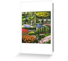 A Dutch Spring Collage - Keukenhof Gardens Greeting Card