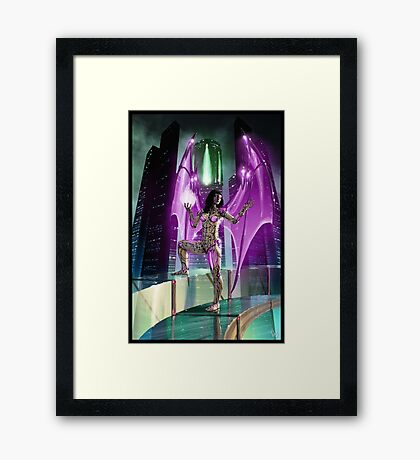 Robot Angel Painting 020 Framed Print