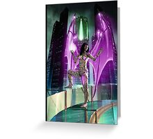 Robot Angel Painting 020 Greeting Card