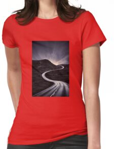 To Where The Darkness Ends Womens Fitted T-Shirt