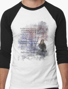 Edgar Allan Poe Poem The Raven Men's Baseball ¾ T-Shirt