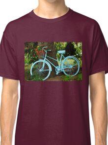 Blue Garden Bicycle Classic T-Shirt