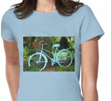 Blue Garden Bicycle Womens Fitted T-Shirt