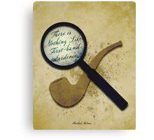 Sherlock Holmes Illustration Canvas Print