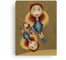 Inner Child - Girls Swingning in the Spring Breeze Canvas Print