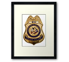 Badge of Authority Framed Print