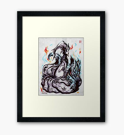 Grudge Fox Framed Print