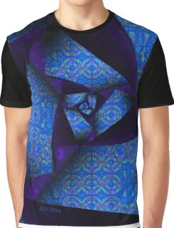 Folding And Pleating A Paper Spiral Graphic T-Shirt