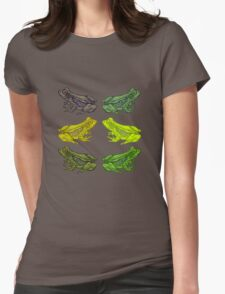 Frog Party Womens Fitted T-Shirt