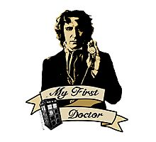 My first Doctor (Who) eighth 9th Paul McGann Photographic Print