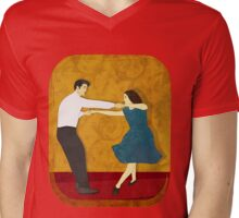 Swing Dance Mens V-Neck T-Shirt