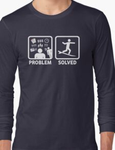 Funny Surfing Problem Solved Long Sleeve T-Shirt
