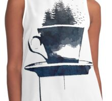 Watercolor Forest Cup of Tea Contrast Tank