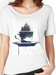 Watercolor Forest Cup of Tea Women's Relaxed Fit T-Shirt