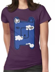 Clouds bearie. Womens Fitted T-Shirt