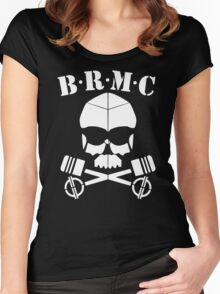 Brmc Skull Women's Fitted Scoop T-Shirt