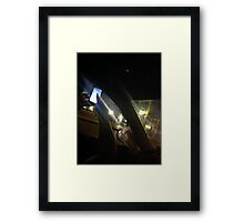 Full Moon Plaza L A Framed Print