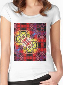 Red Petals Women's Fitted Scoop T-Shirt