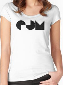 EDM electric dance music Women's Fitted Scoop T-Shirt