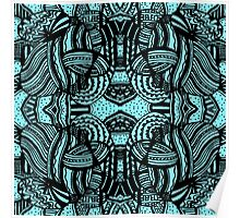 Miniature Aussie Tangle 10 Pattern Variations Poster