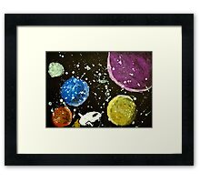 Space Voyage Framed Print