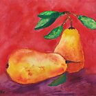 Two Pears by Halina Plewak