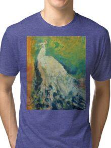White Peacock Tri-blend T-Shirt
