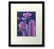 Floral Glitch Framed Print