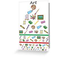 Art eye chart  Greeting Card