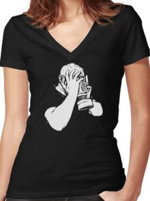Its All Too Much Sometimes Women's Fitted V-Neck T-Shirt