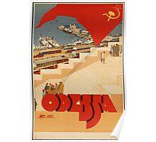 Odessa, Ukraine Vintage Travel Poster Poster