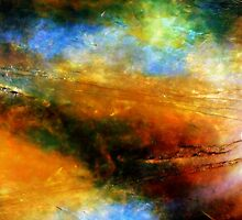Fluid Acrylic Painting ABOVE THE CLOUDS Artist Holly Anderson by hollyanderson