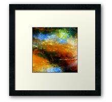 Fluid Acrylic Painting ABOVE THE CLOUDS Artist Holly Anderson Framed Print