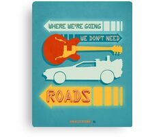 Back To The Future Illustration Canvas Print
