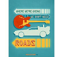 Back To The Future Illustration Photographic Print