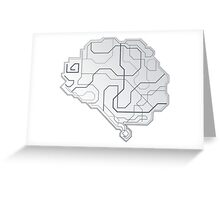Light Tech Brain Laptop Sticker Greeting Card