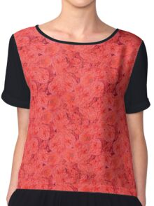 Red Blossoms Chiffon Top