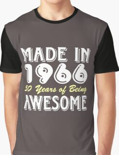 Made in 1966, 50 Years of Being Awesome (dark) Graphic T-Shirt