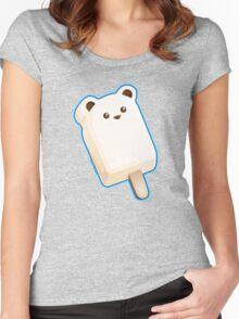 Cute Polar Bar Ice Cream Women's Fitted Scoop T-Shirt