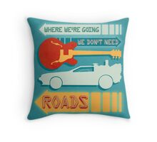 Back To The Future Illustration Throw Pillow