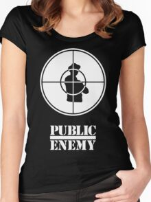 PUBLIC ENEMY Women's Fitted Scoop T-Shirt