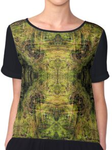 Jaguar Forest - A Meditative Pattern Chiffon Top