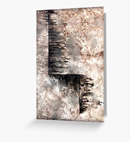 Grey and Black Textured Abstract Painting JOURNEY  Greeting Card
