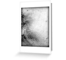 Black and White Contemporary Abstract Painting SIMPLE ELEGANCE Greeting Card