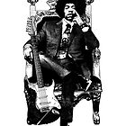 Jimi Hendrix by geneticthreat